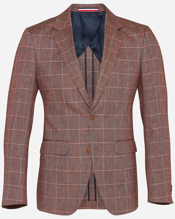 Men's Salmon Check Blazer