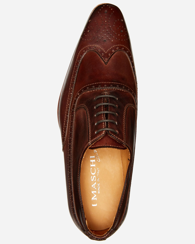 Brown Brogue Oxford |  Lace Up - Menzclub