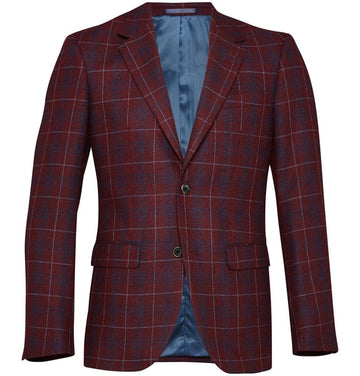 Check Wool Blazer