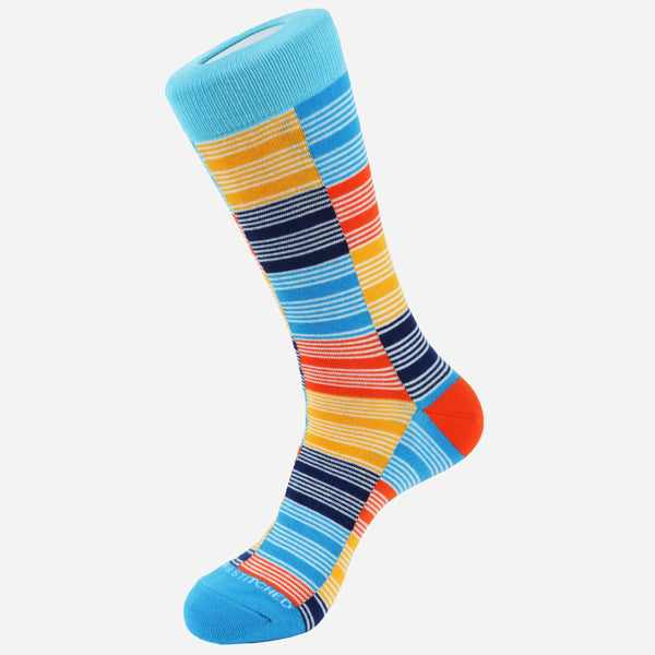 Unsimply Stitched Checker Stripe Socks | Men's Socks Online