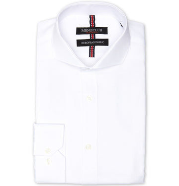 White Cotton Blend Shirt | Men's Business and Work Shirts