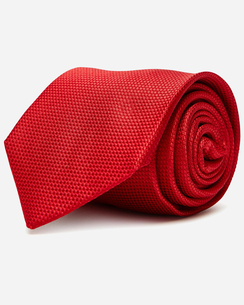 Red Silk Tie | Menswear Stores South Yarra