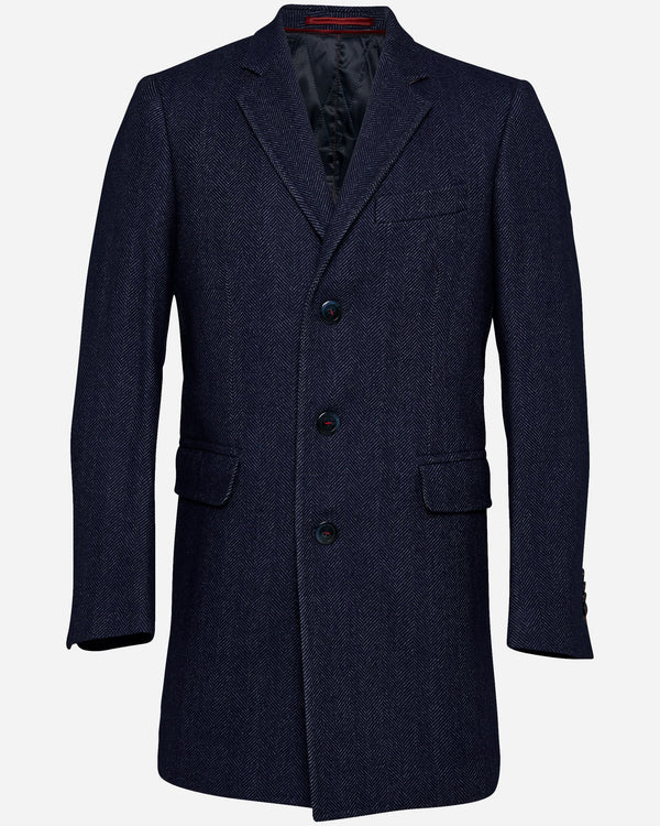 Florentino Herringbone Coat | Mens Winter Coats Online