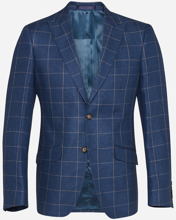 Blue Linen Blazer | Men's Sport Coats