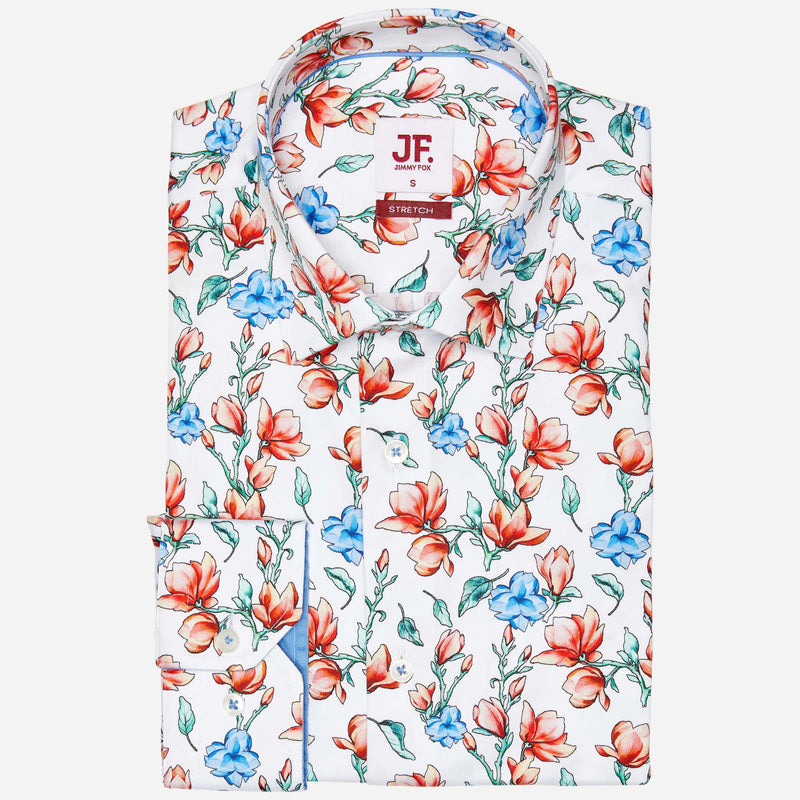 Jimmy Fox White Floral Shirt | Buy Men's Shirts