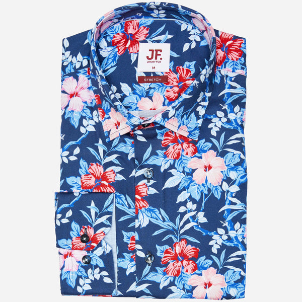 Jimmy Fox Blue Floral Shirt | Men's Stores Chapel Street