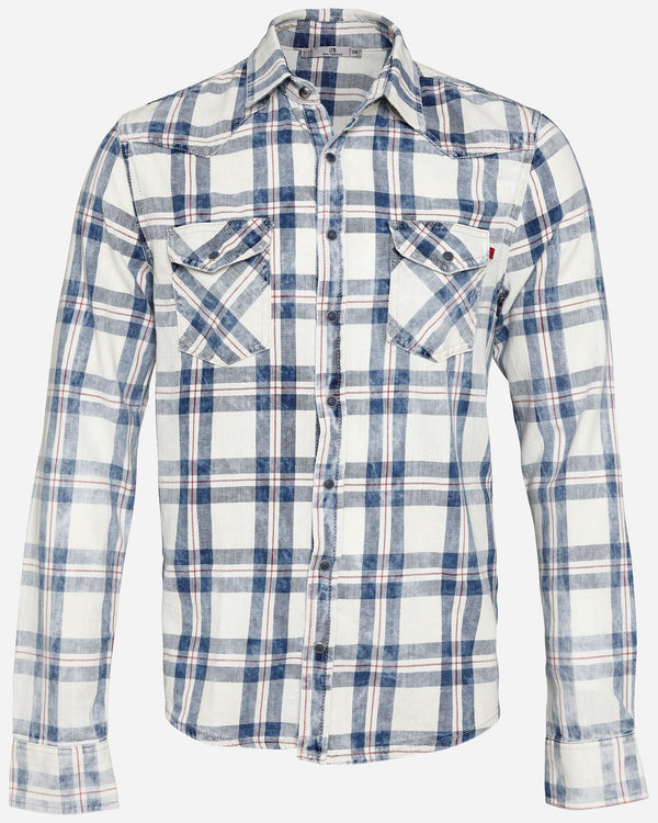 Rohan Icy Blue Plaid Shirt