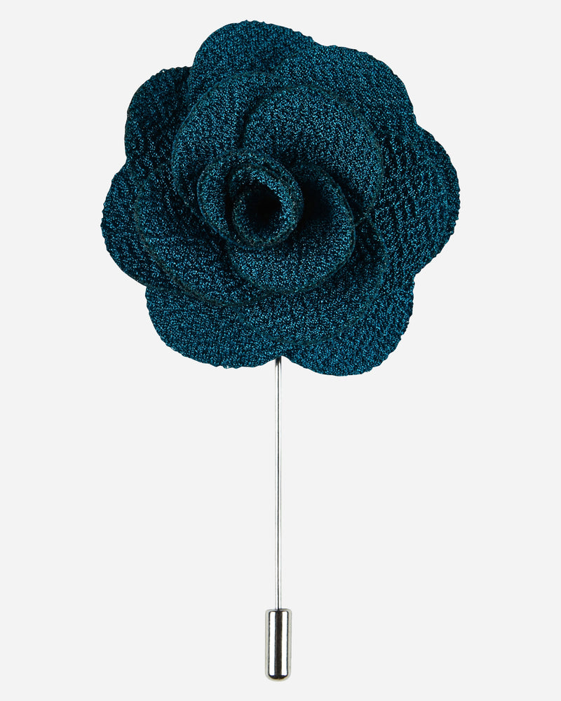Teal Flower Pin |  Lapel Pins - Menzclub