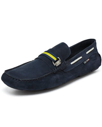 Navy Mens Driving Shoe