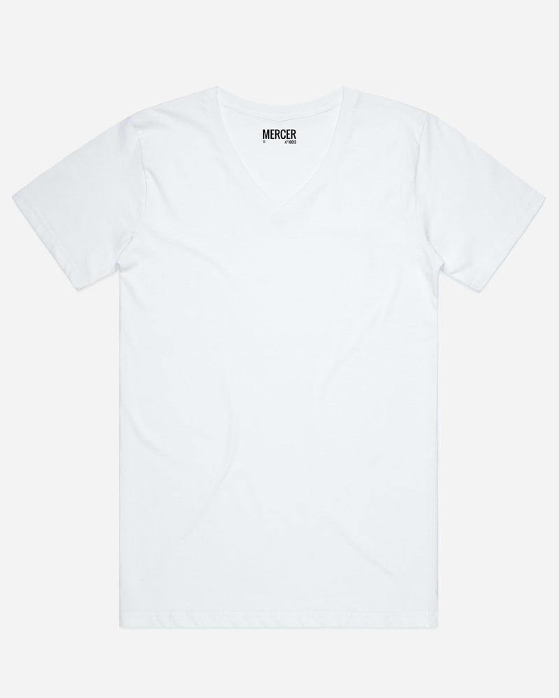 MERCER V-Neck White | Men's T-Shirts Online