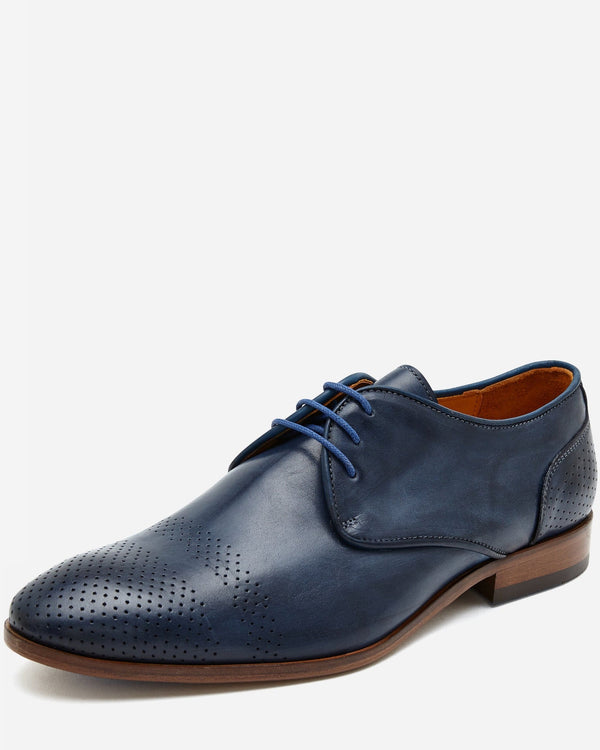 Navy Brogue Lace Up |  Lace Up - Menzclub