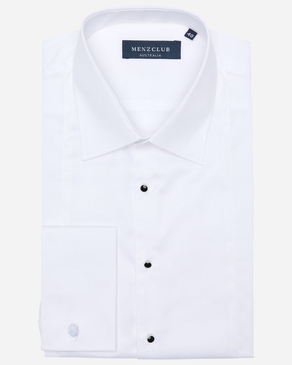 Nicholas White Dinner Shirt | Men's Wedding Shirts Online