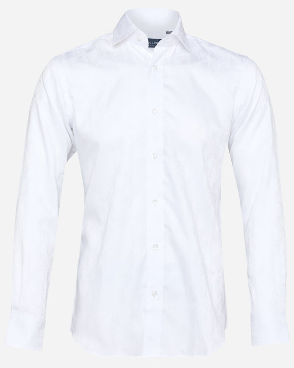 Paisley White Dress Shirt | Men's Formal Shirts - Menzclub
