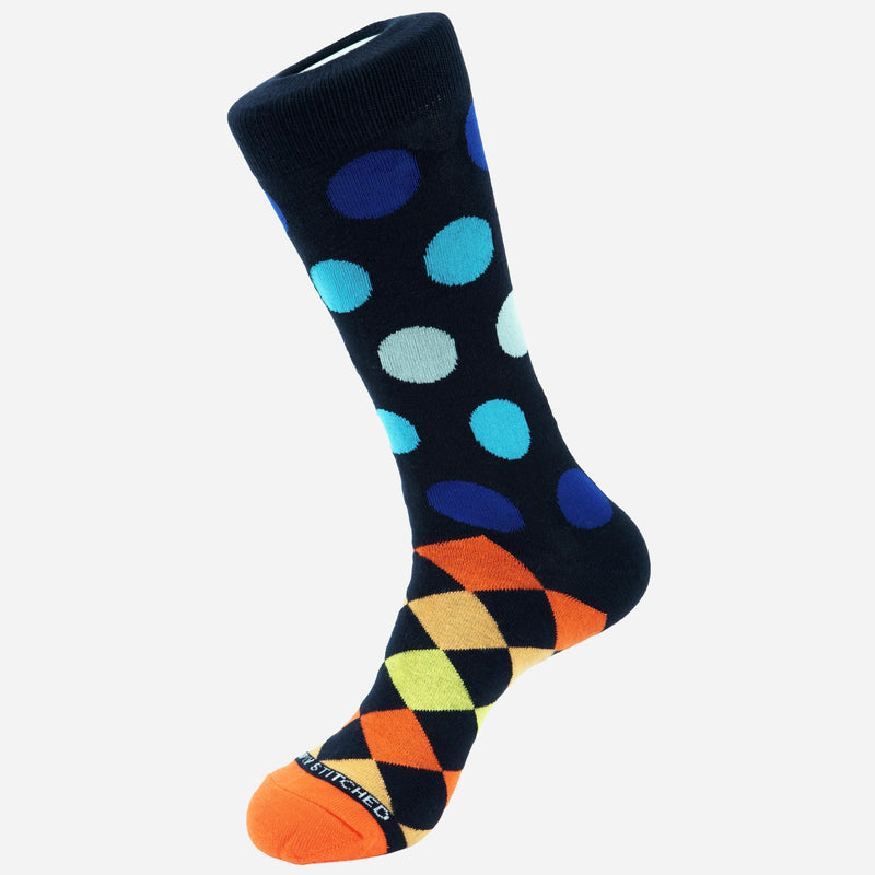 Unsimply Stitched Polka Dot Checker Socks | Men's Socks Online
