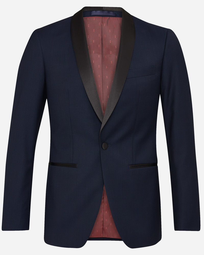 Navy Dinner Suit with Shawl Lapel