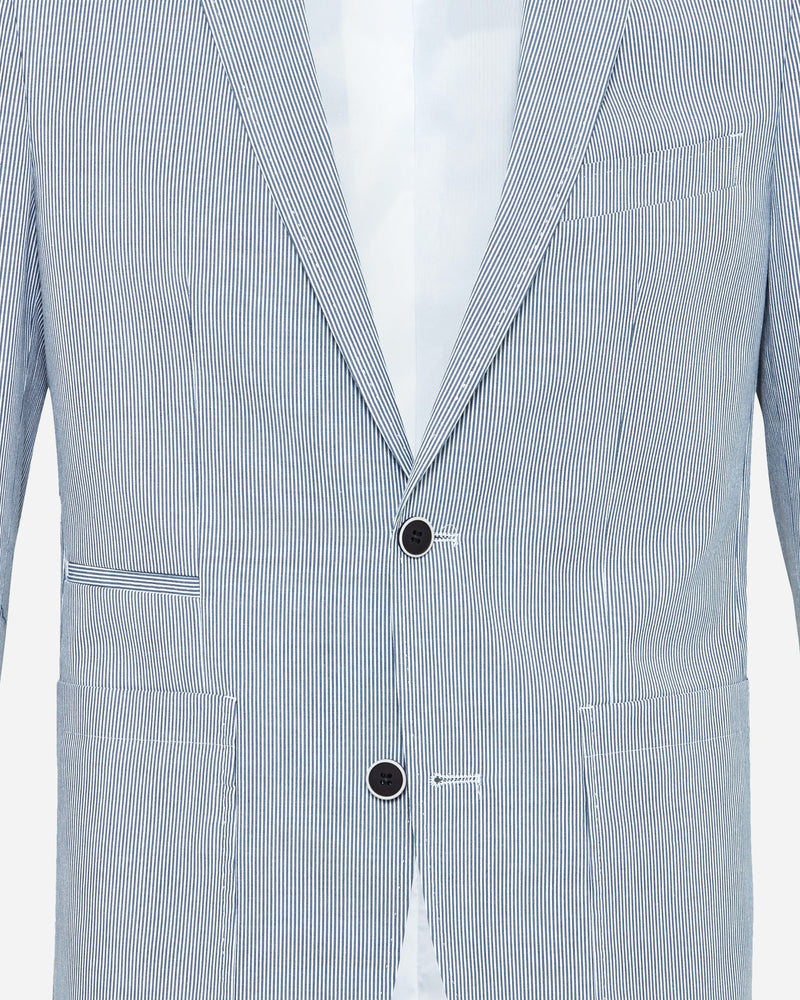 Blue Seersucker Blazer | Shop Mens Sport Jackets