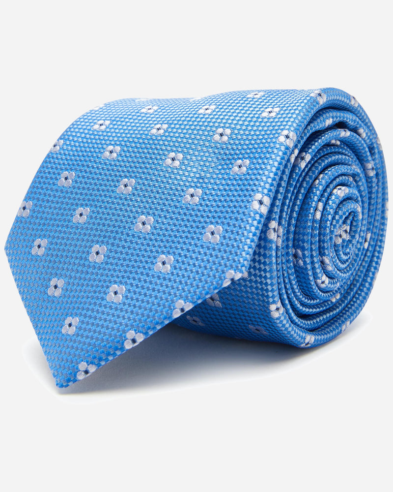 Baby Blue Floral Tie | Men's Clothing Stores - Menzclub