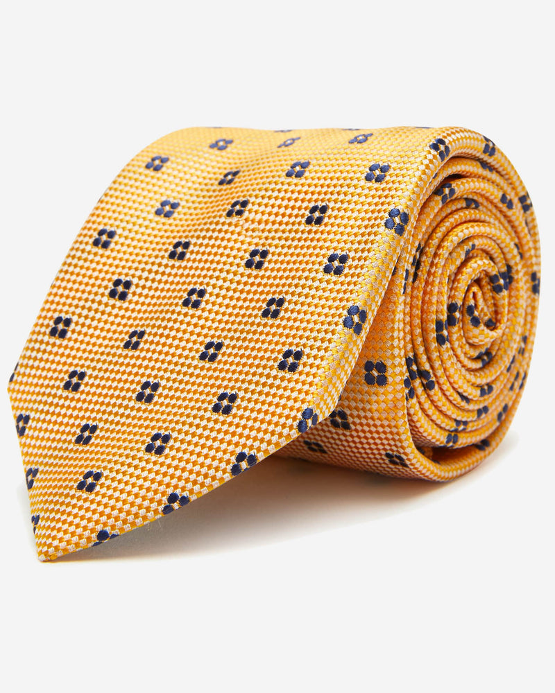 Yellow Floral Tie | Shop Men's Ties Online - Menzclub