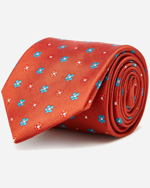 Darling Orange Floral Tie | Men's Accessories Online