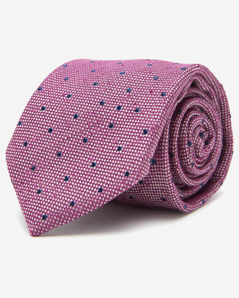 Eagar Purple Dot Tie | Men's Work & Business Ties - Menzclub