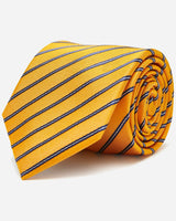 Domain Yellow Stripe Tie | Buy Men's Ties