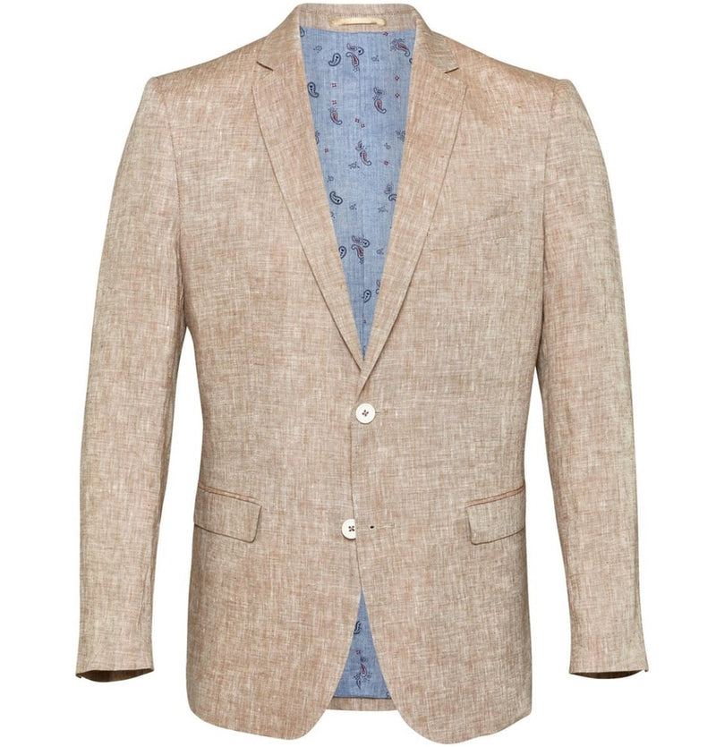 Men's Tailored Blazers - Beige Linen Jacket