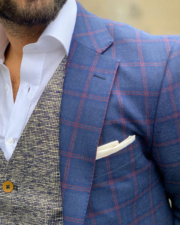 Navy Check Blazer | Shop Men's Blazers Online