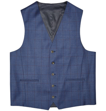 Windowpane Check Waistcoat | Three Piece Suits