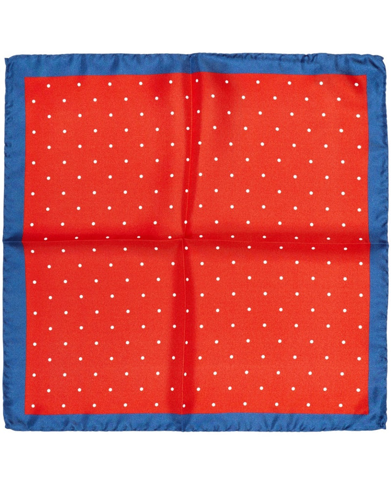 Dotted Square with Blue Border |  Pocket Squares - Menzclub