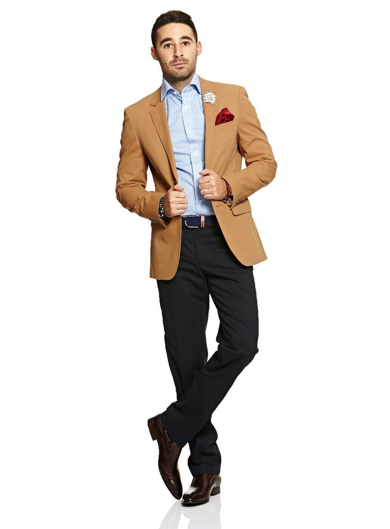 Cotton Stretch Blazer |  Blazers - Menzclub