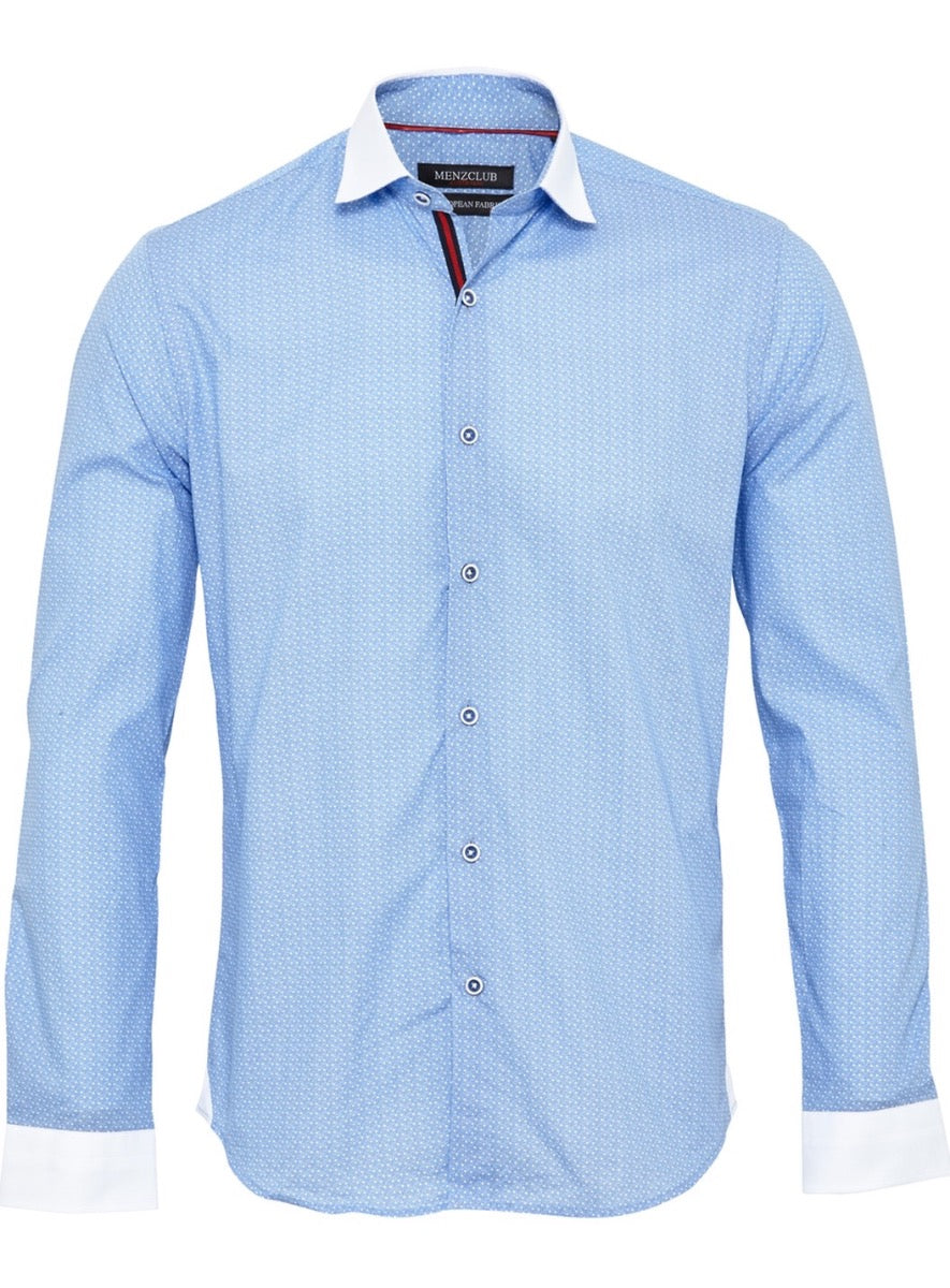 Men's Casual Shirt with Banker Collar