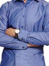Cotton Blend Shirt |  Formal Shirts - Menzclub