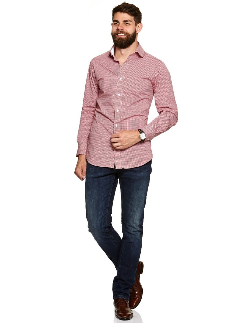 Cotton-Stretch Shirt |  Formal Shirts - Menzclub