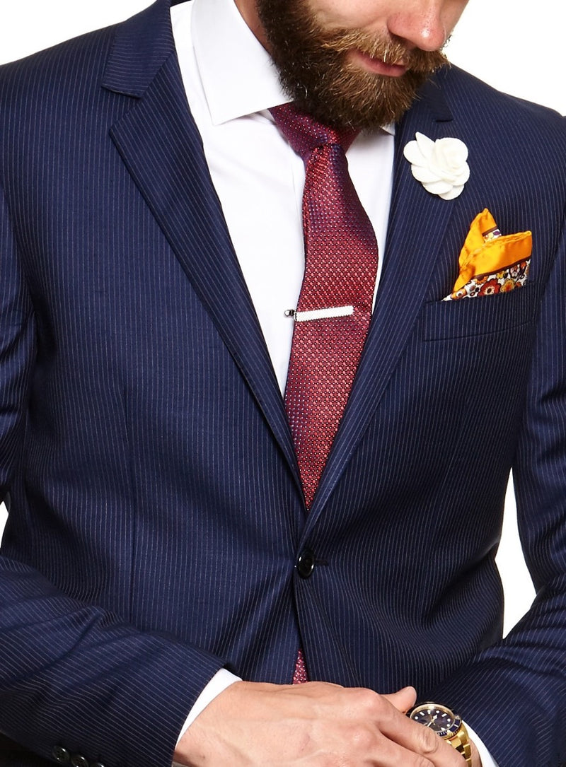 Navy Pinstripe Suit |  Suits - Menzclub