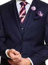 Bold Pin-Stripe Suit |  Suits - Menzclub