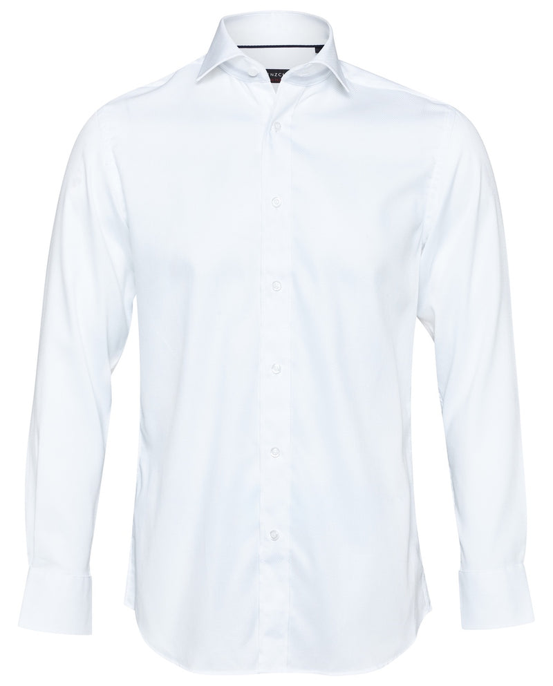 Textured White Wedding Shirt