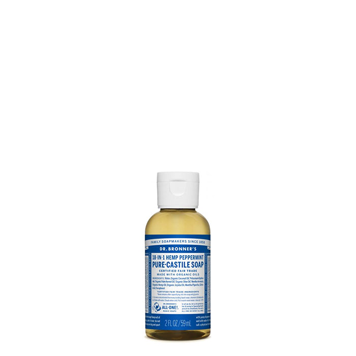 Dr Bronner's - Pure Castile Liquid Soap Peppermint - 59ml