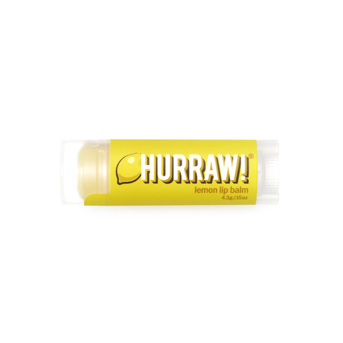 All natural and vegan, this Lemon Hurraw Lip Balm is made from premium raw, organic and fair trade ingredients, with natural flavours. Hurraw is 100% cruelty free and palm oil free. Super smooth, long lasting, not sticky or sweet, not too glossy, never grainy. Plus, it holds up to being in a back jeans pocket all day without melting! 4.3g