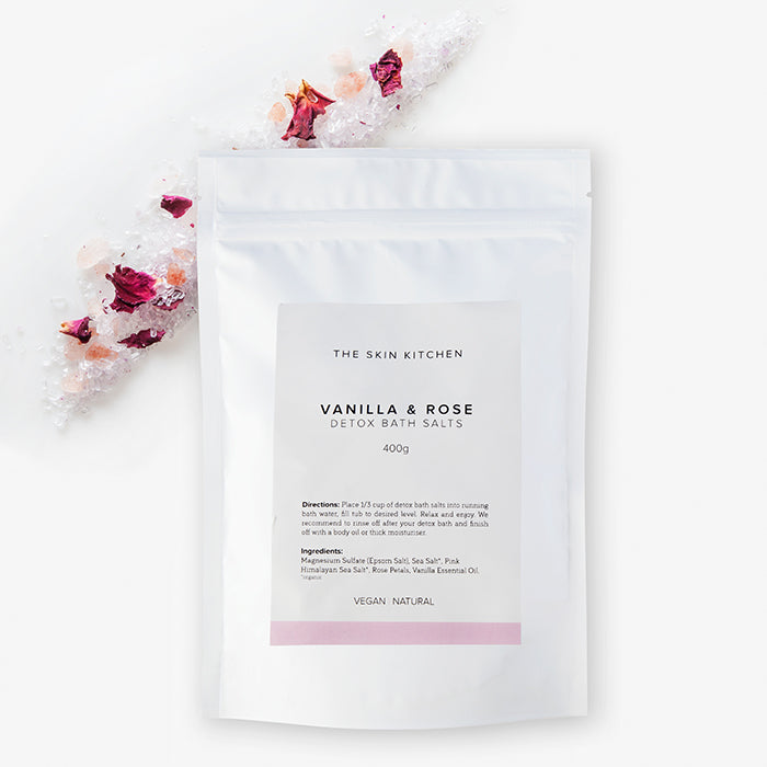The Skin Kitchen - Rose Vanilla Detox Bath Salts