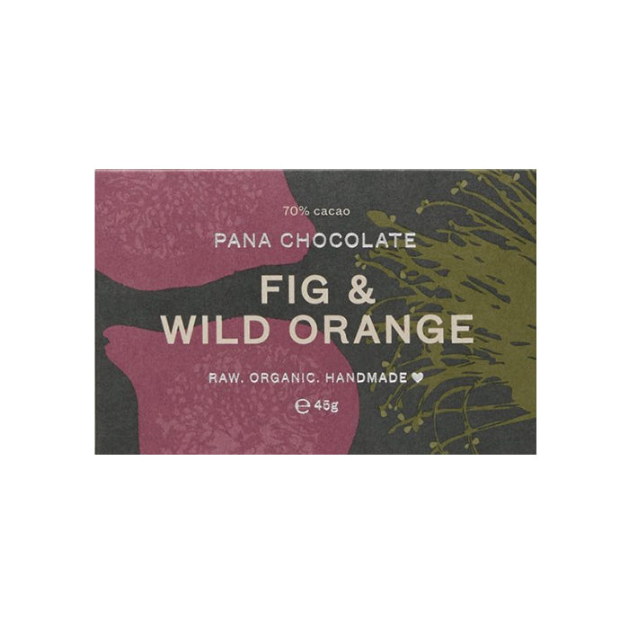 Pana Chocolate - 45g Bar - Fig + Wild Orange