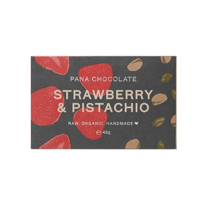 Pana Chocolate - 45g Bar - Strawberry & Pistachio