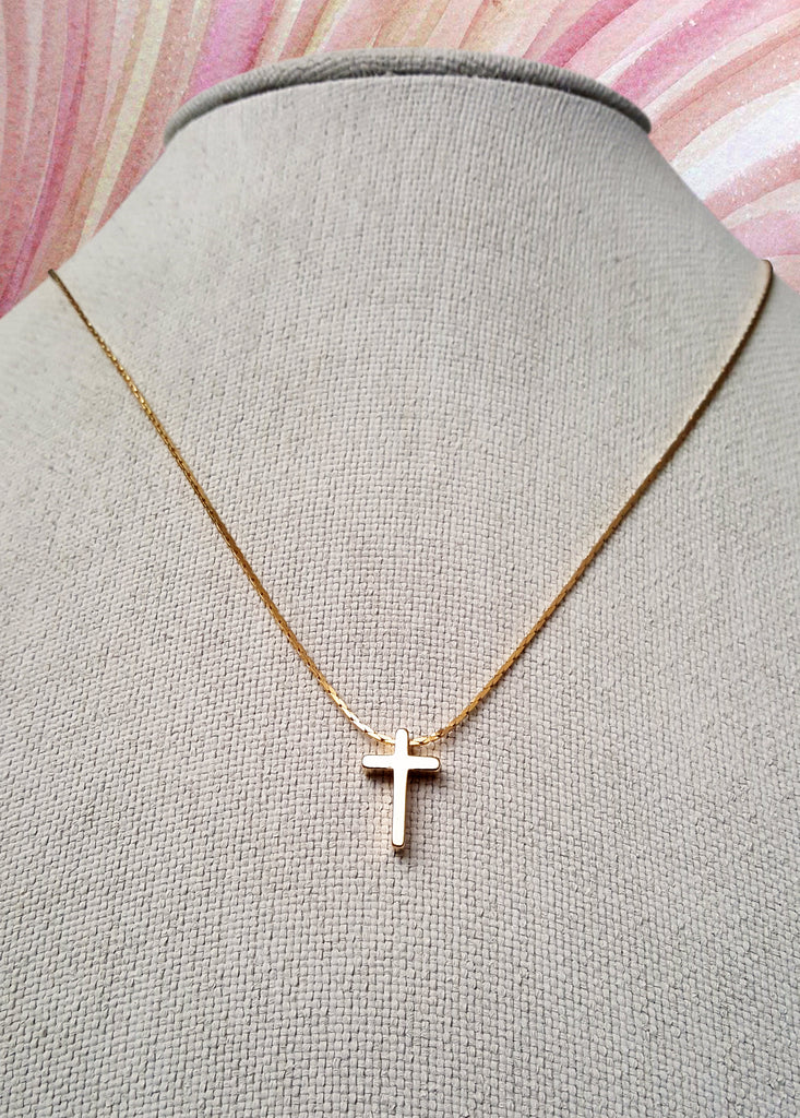 Golden mini cross