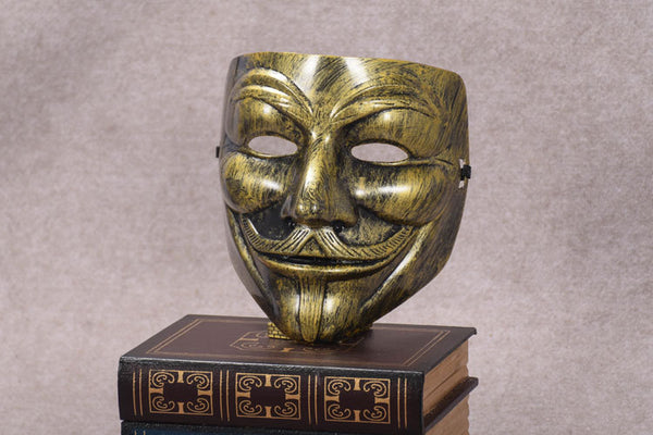 Gold Anonymous /Guy Fawkes Mask