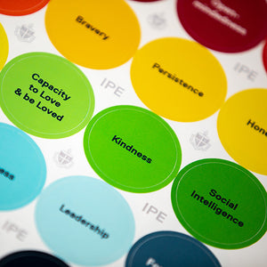 Character Strengths Stickers (text-based)