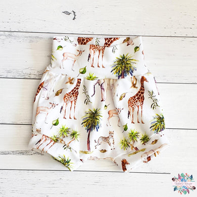 African animals harem shorts
