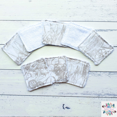 Gumnuts grey re-usable make up pads