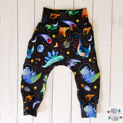 Space dinosaurs harem pants