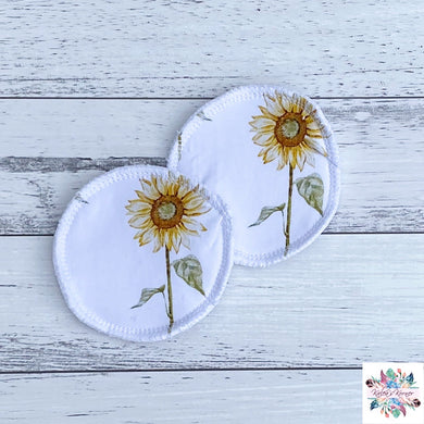 Sunflower (white) breast pads