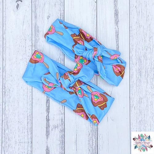 Bubble O Bill (Blue) Topknot headband
