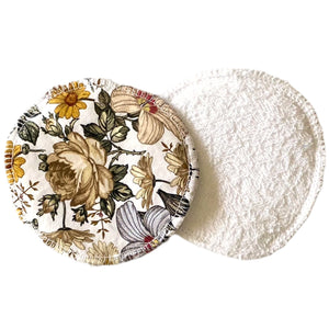 Mustard Floral breast pads